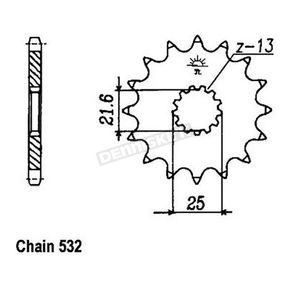 JT Sprockets 532 15 Tooth Sprocket - JTF440.15