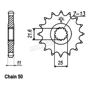 JT Sprockets 530 15 Tooth Front Sprocket - JTF580.15
