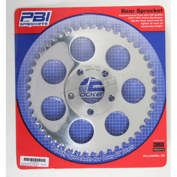 PBI Sprockets Aluminum Rear 49 Tooth Drive Sprocket - 2077-49