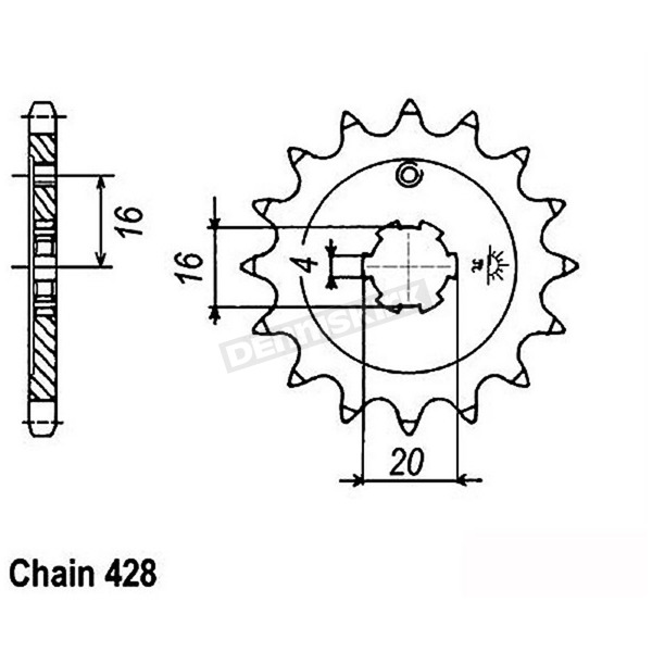 JT Sprockets 428 14 Tooth Sprocket - JTF555.14
