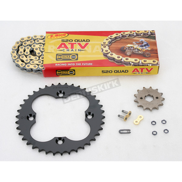 Regina 520 Quad Z-Ring Chain and Sprocket Kit - 5QUAD086KHO0