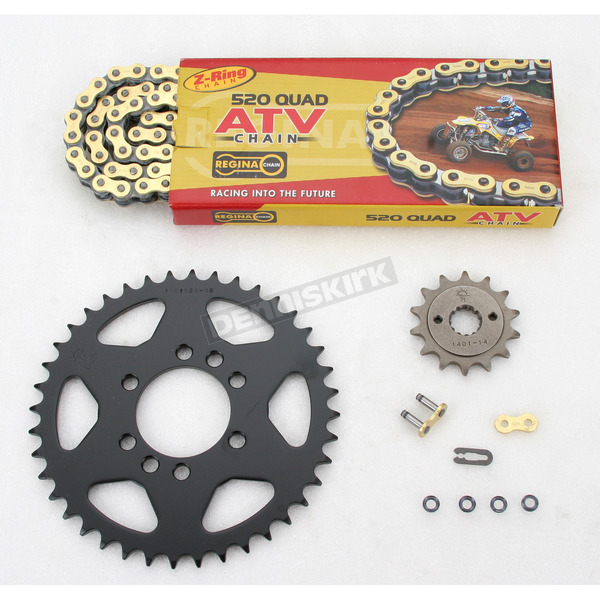Regina 520 Quad Z-Ring Chain and Sprocket Kit - 5QUAD112KKA0