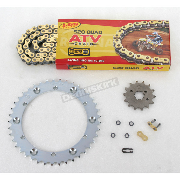 Regina 520 Quad Z-Ring Chain and Sprocket Kit - 5QUAD104KYA0
