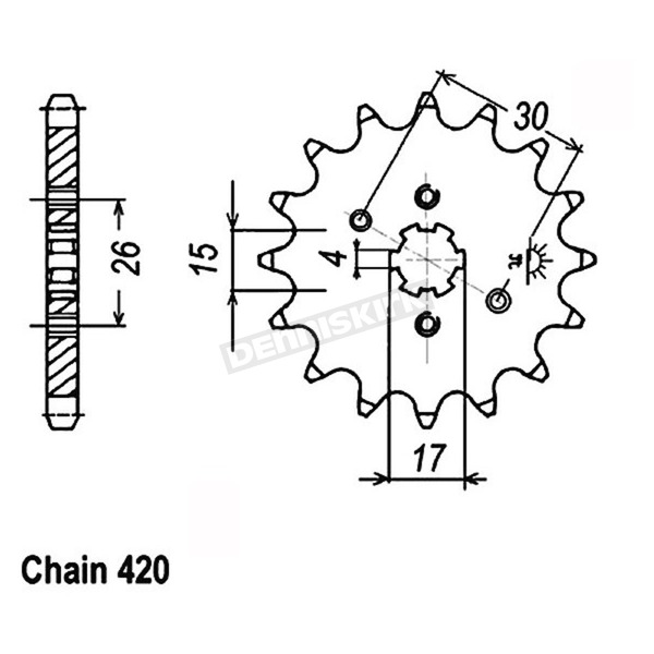 JT Sprockets Sprocket - JTF252.13