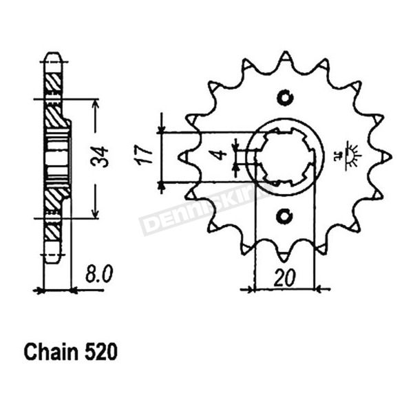 JT Sprockets Sprocket - JTF287.14