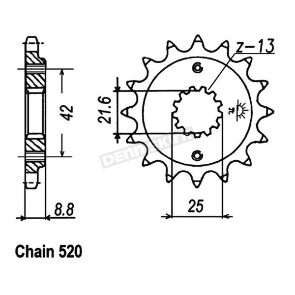 JT Sprockets 520 14 Tooth Sprocket - JTF512.14