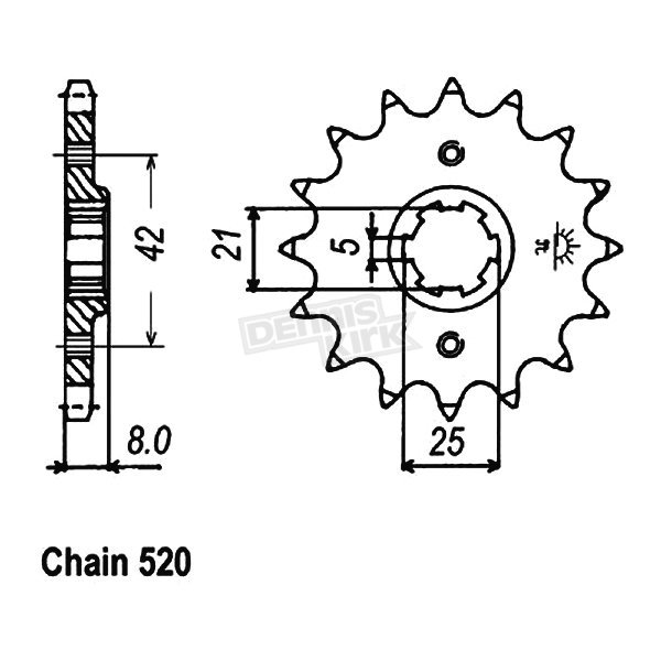 JT Sprockets Sprocket - JTF575.14