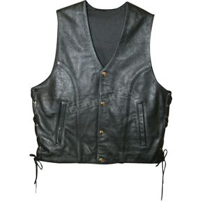Power-Trip Mens Powerglide Leather Vest - 9031-8003