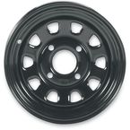 Rear Black Delta 12x7 Steel Wheel - 1225565014