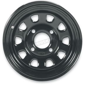 Black Large Bell 12x7 Delta Steel Wheel - 1225571014