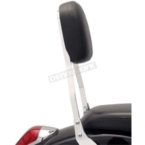 Cobra Short Square Sissy Bar w/Pad - 14 in. - 02-5614