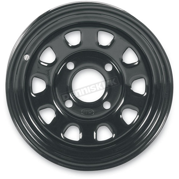 ITP Black Large Bell Delta Steel Wheel - 1225573014