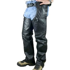 Hot Leathers Heavy-Duty Unisex Leather Chaps - CHM1004L