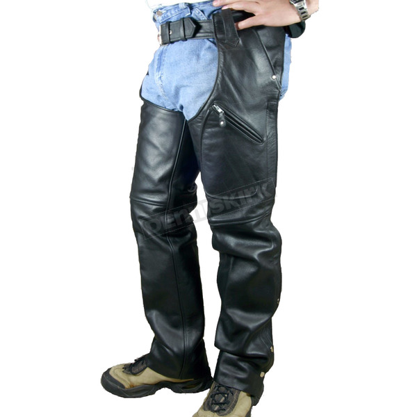 Hot Leathers Heavy-Duty Unisex Leather Chaps - CHM1004XXL