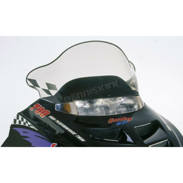 PowerMadd Cobra 15 1/2 in. Medium Smoke/Black Windshield - 11230