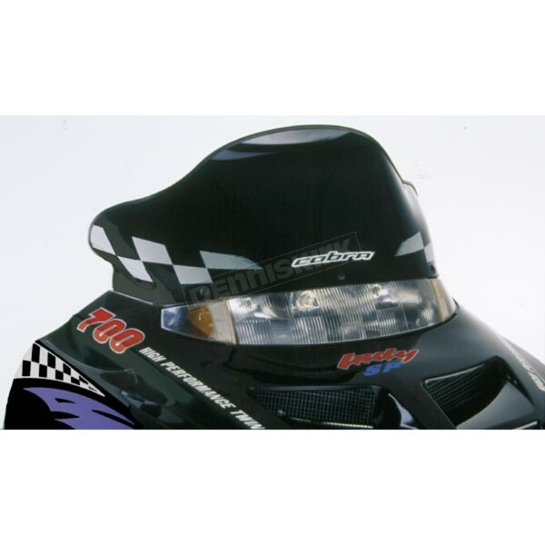 PowerMadd Cobra 12 in. Low Black/White Windshield - 11220