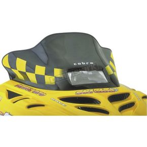 PowerMadd Cobra 12 in. Low Black/Yellow Windshield  - 13120