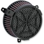 Black Cross Air Cleaner Kit - 606-0102-02B