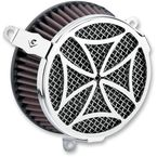 Chrome Cross Air Cleaner Kit - 606-0100-02
