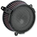 Black Plain Air Cleaner Kit - 606-0100-03B