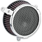 Chrome Plain Air Cleaner Kit - 606-0103-03