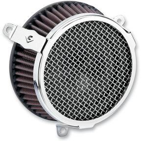 Cobra Chrome Plain Air Cleaner Kit - 606-0100-03