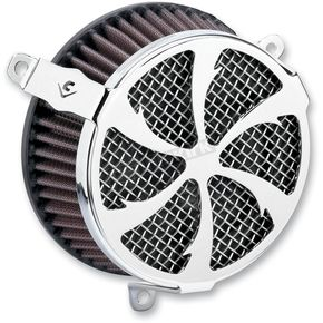 Cobra Chrome Swept Air Cleaner Kit - 606-0100-01