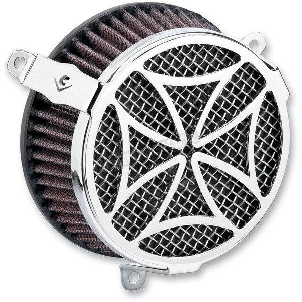 Cobra Chrome Cross Air Cleaner Kit - 606-0100-02