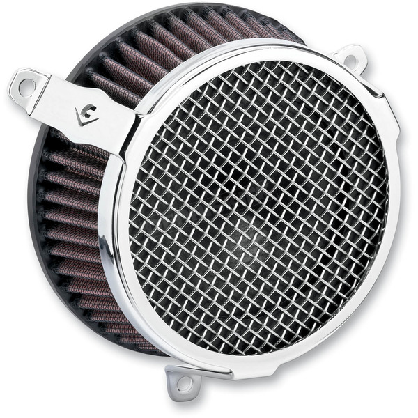 Cobra Chrome Plain Air Cleaner Kit - 606-0102-03