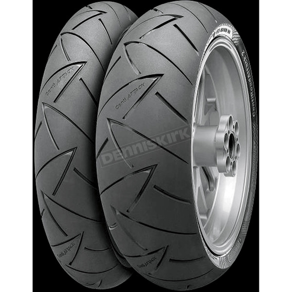 Continental Front Conti Road Attack 2 GT 120/70ZR-17 Blackwall Tire - 02440830000