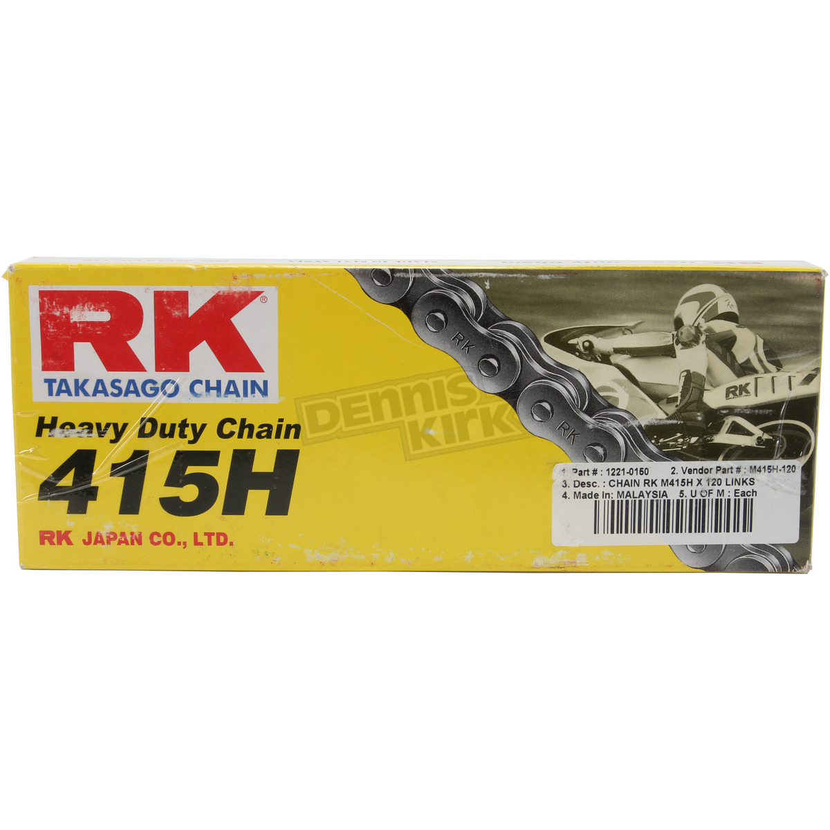 RK Racing Chain M415H-110 110-Links Heavy Duty Motorcycle Chain