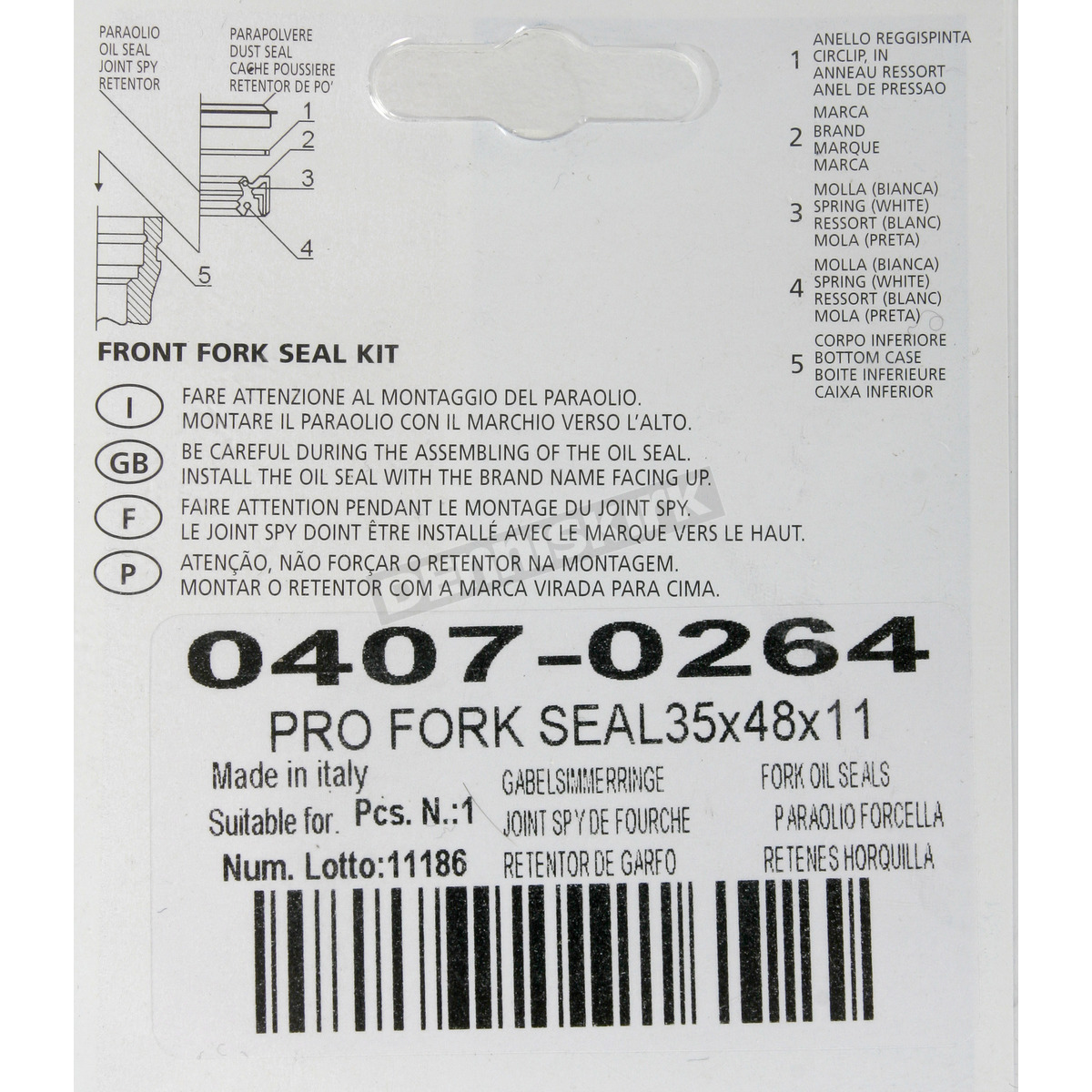 Anti-Stiction Fork Seals - 35mm x 48mm x 11mm - 0407-0264