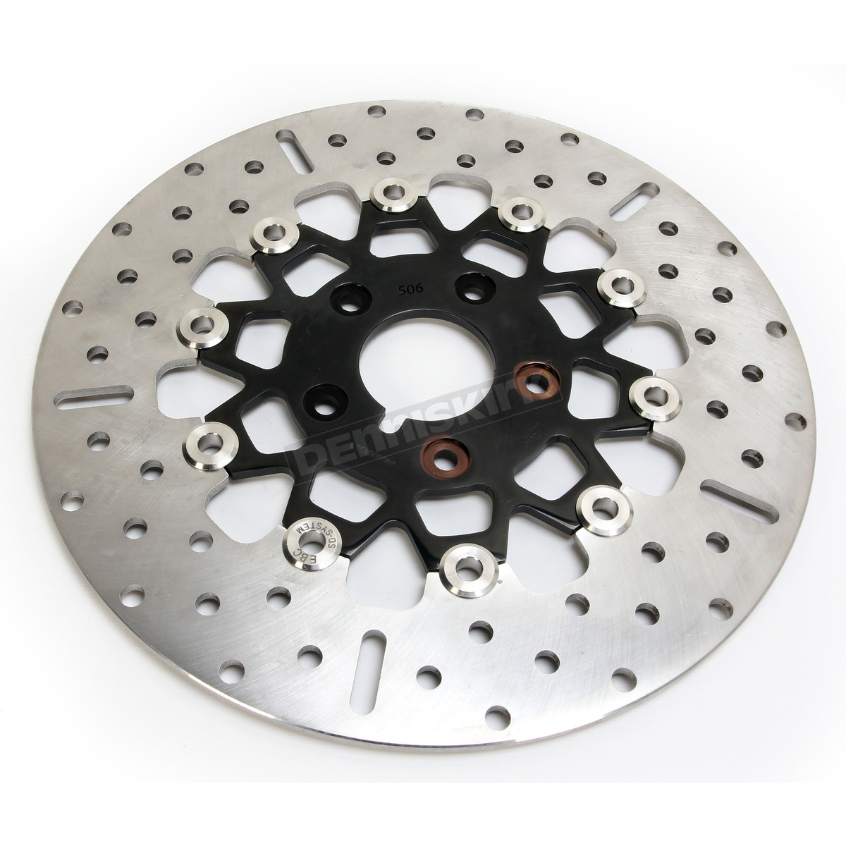 EBC Front Black Chrome 10 Button Floating Rotor