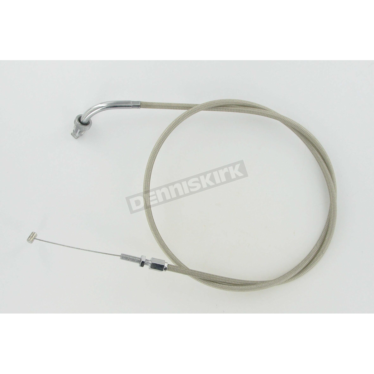Armored Cable Stainless : Motion pro in armor coat braided stainless steel push
