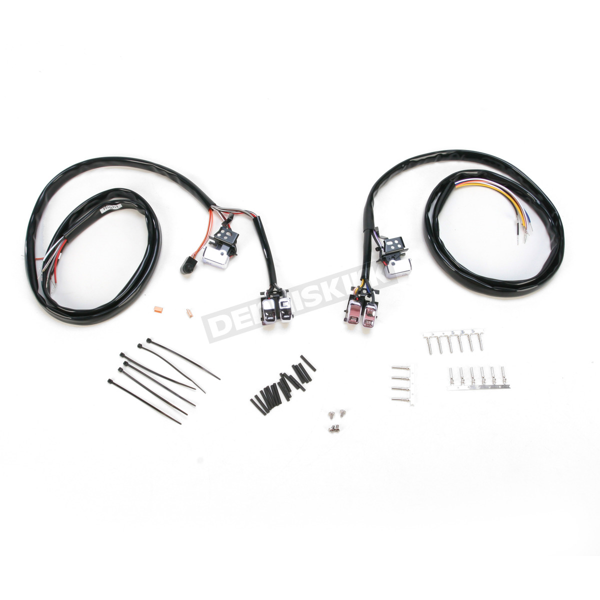 v-factor chrome l e d  handlebar switch wiring kit