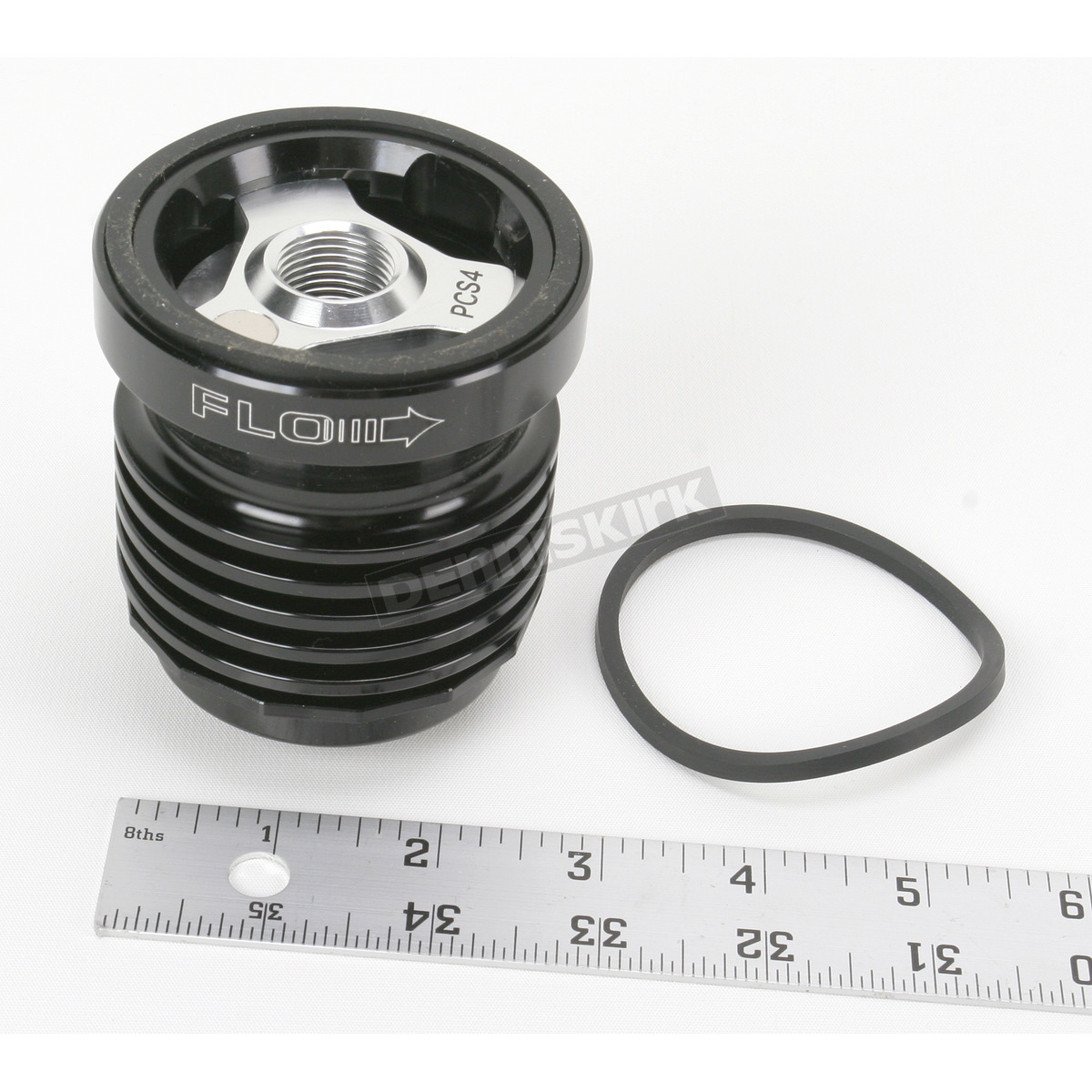 Black FLO Stainless Steel Reusable Spin-On Oil Filter - PCS4B