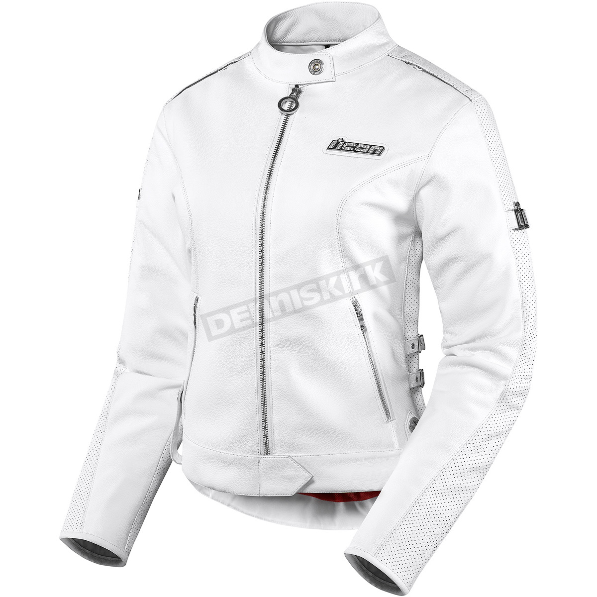 Icon Womens White Hella Leather Jacket - 2813-0447 Harley ...