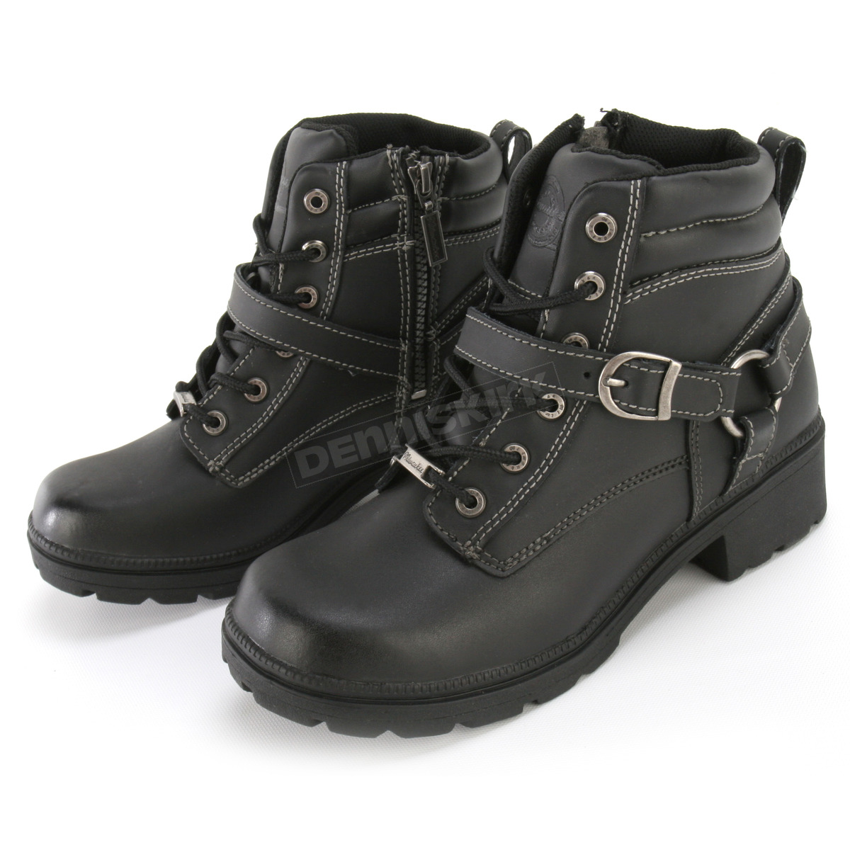 Black, Size 6 Milwaukee Motorcycle Clothing Company Womens Paragon Boots