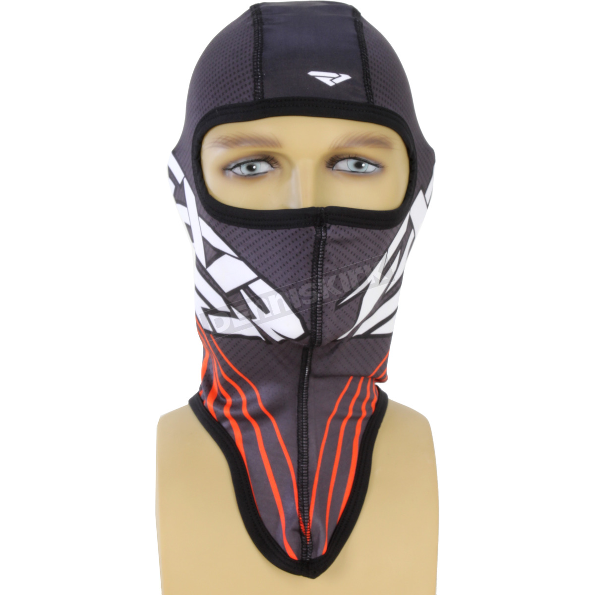 Harley Fxr Turbo: FXR Racing Black/Orange Turbo Balaclava