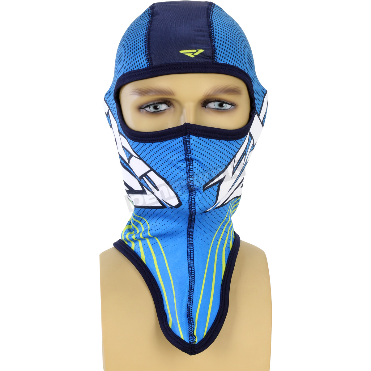 Harley Fxr Turbo: FXR Racing Blue/Hi Vis Turbo Balaclava