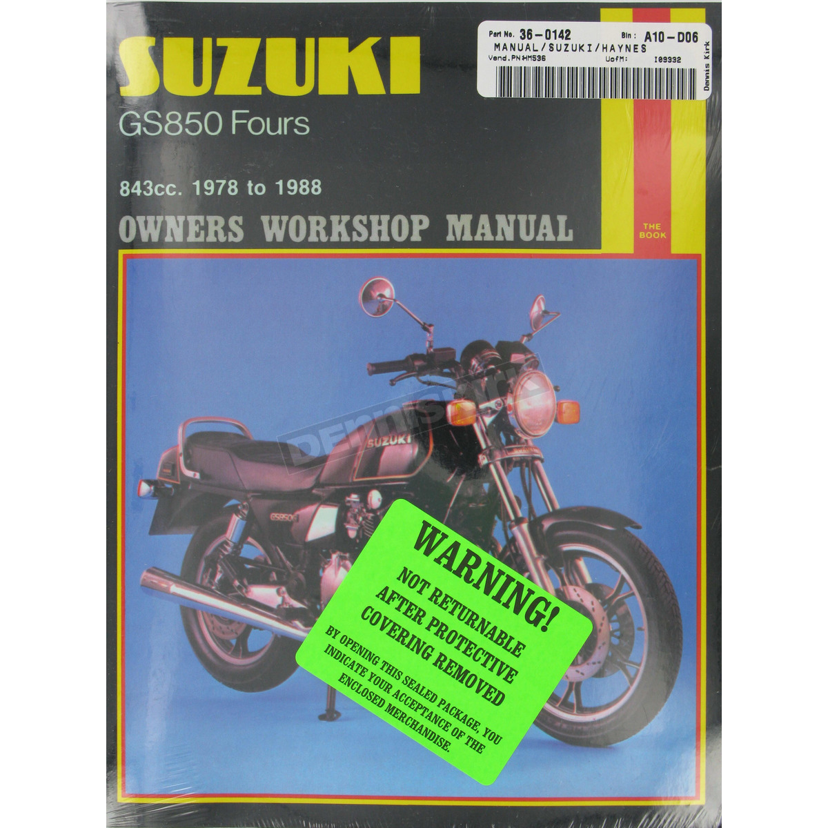 Haynes Suzuki GS850 Repair Manual - 536