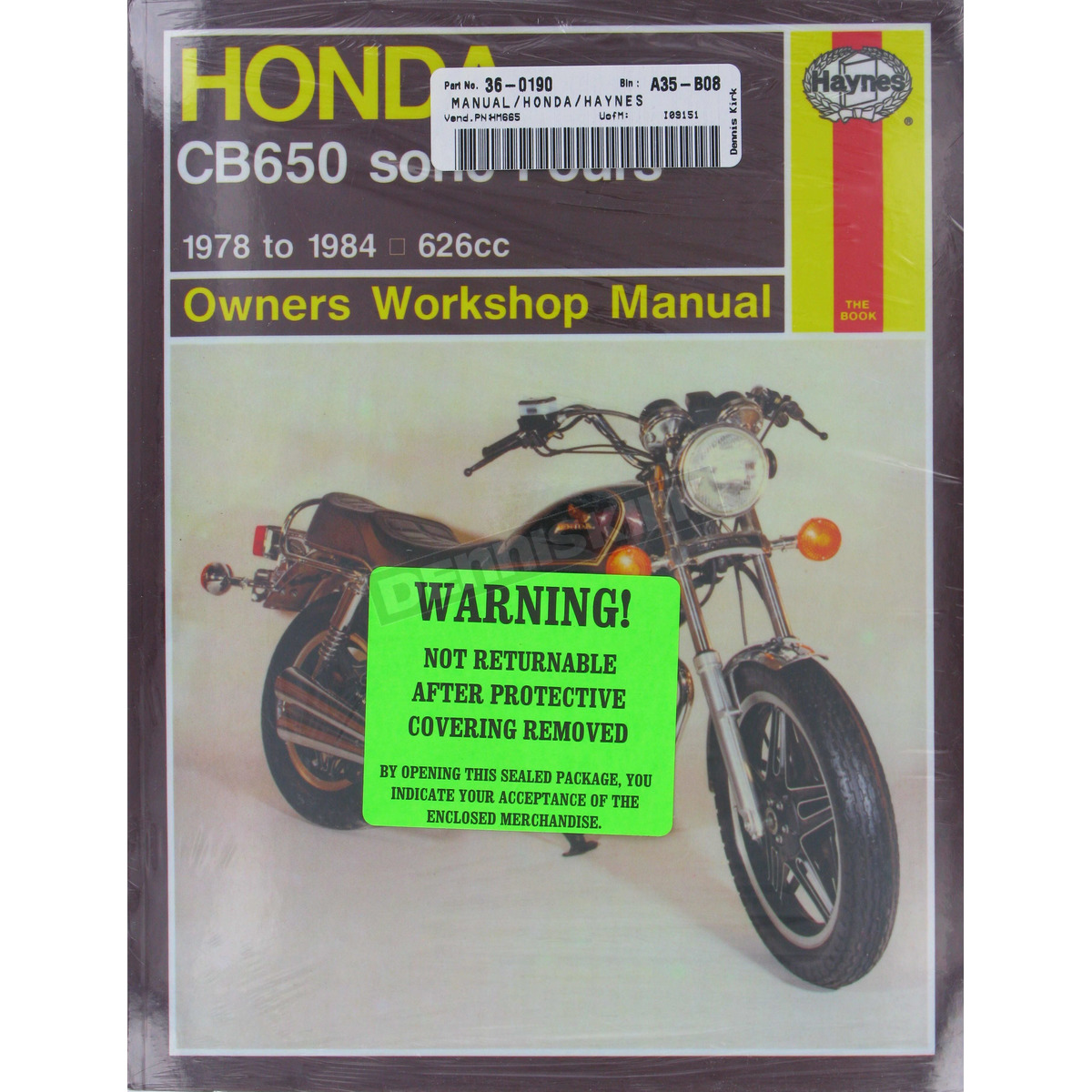 Haynes Honda Cb650 Repair Manual