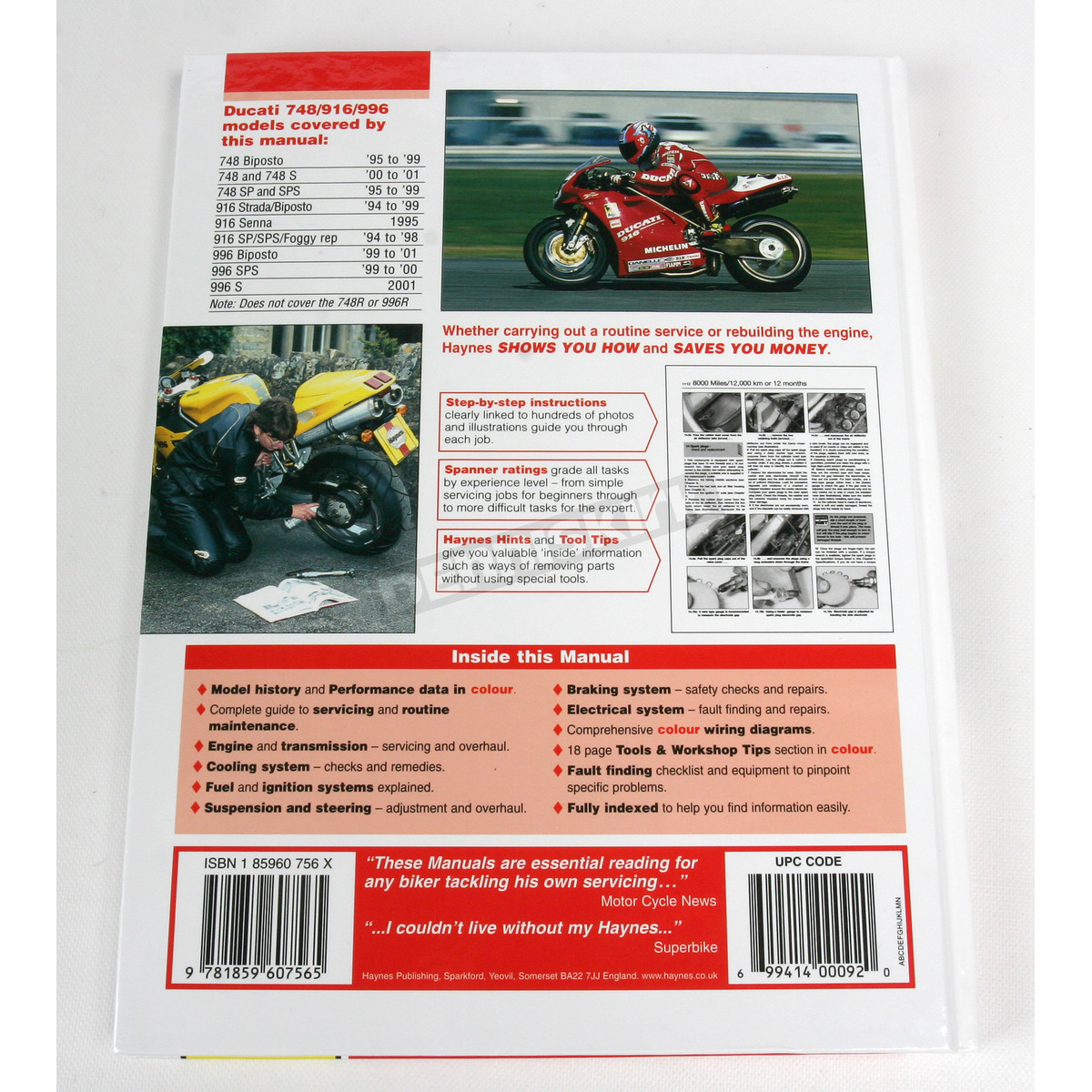 Haynes Ducati Motorcycle Repair Manual 3756 Sport Bike St4 Wiring Diagram