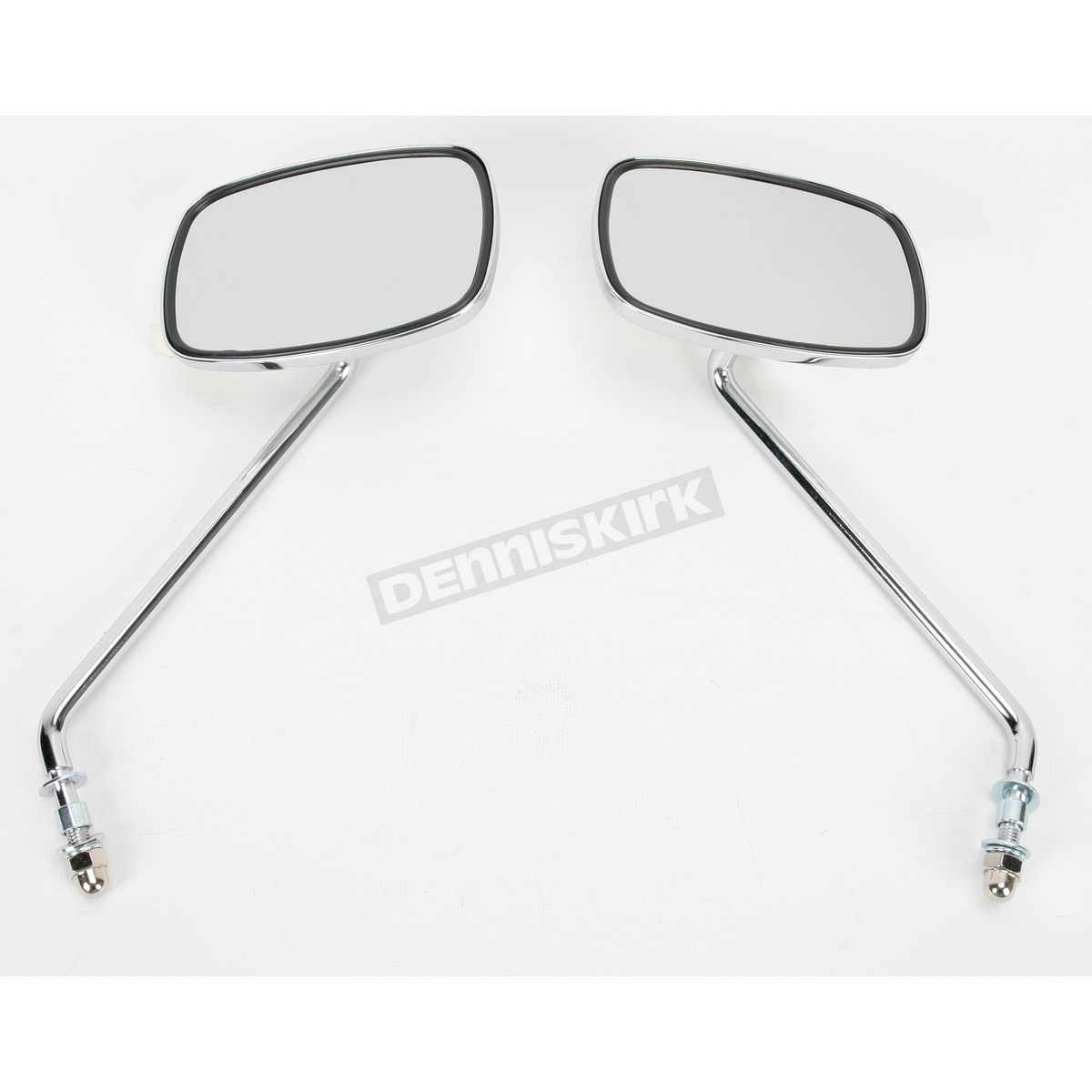 Black Ryde Plain Rectangular Metal Motorcycle Mirrors