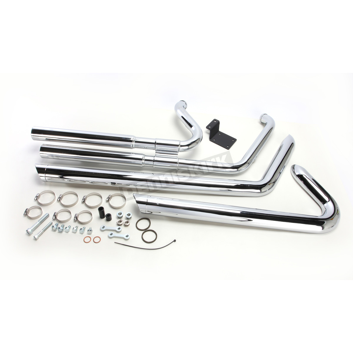 Chrome Big Shots Staggered Exhaust System - 17939