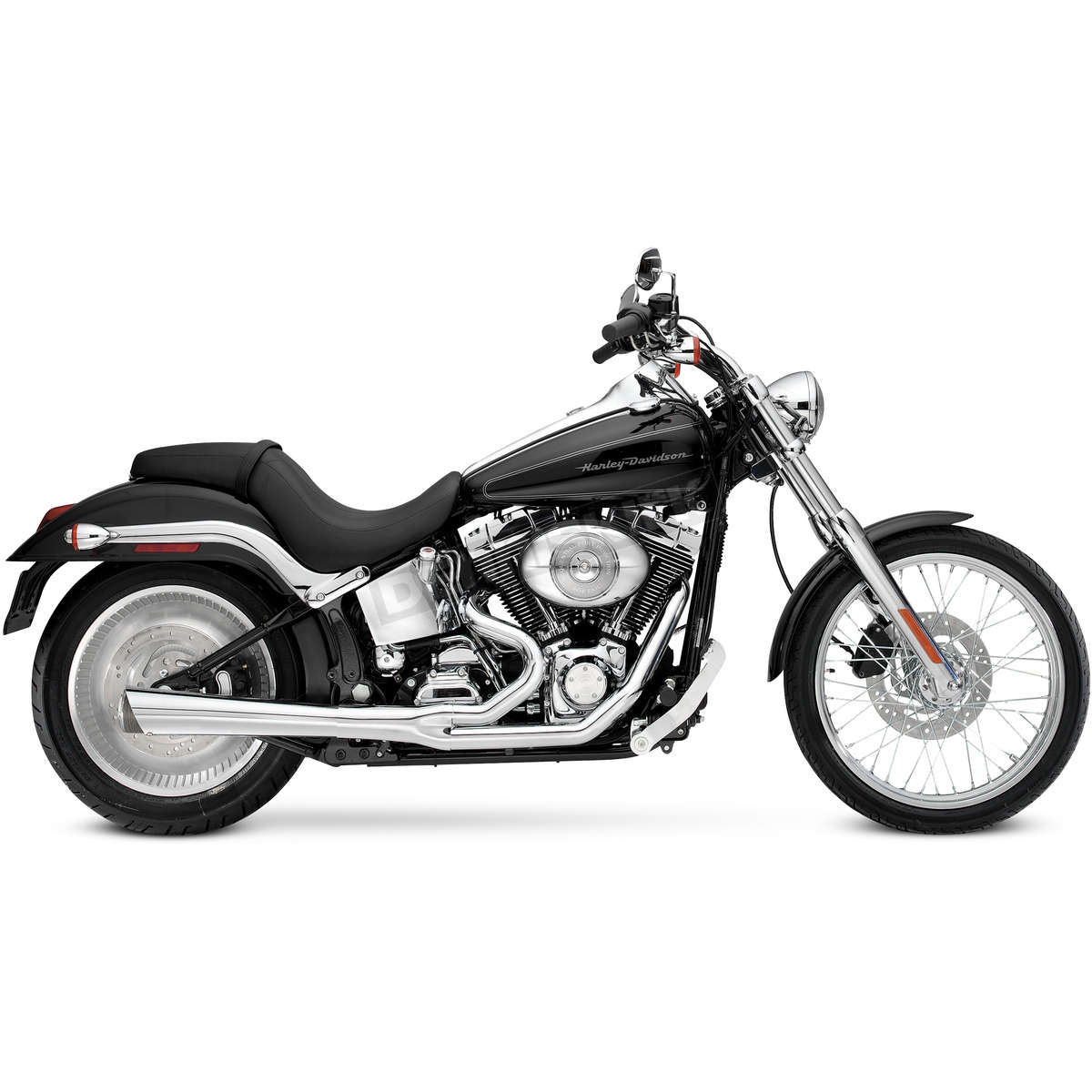Supertrapp Chrome 2 Into 1 Supermeg Exhaust System 828 71454 Harley Davidson Motorcycle Dennis Kirk