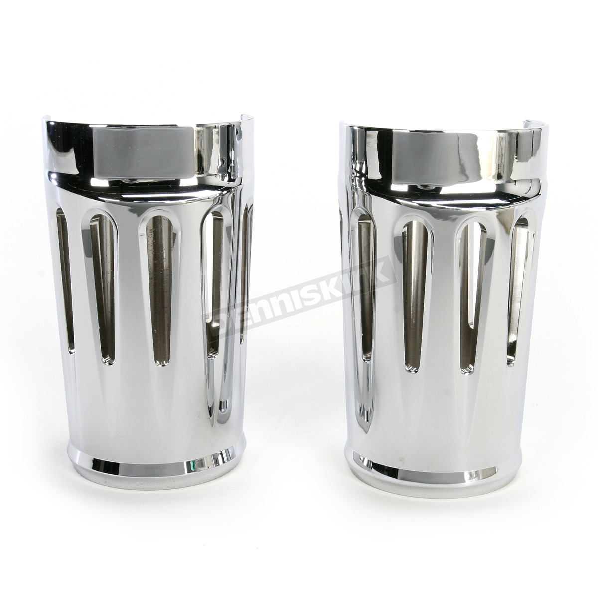 Drag Specialties Chrome Flame Stock Fork Slider Covers Boots for Harley