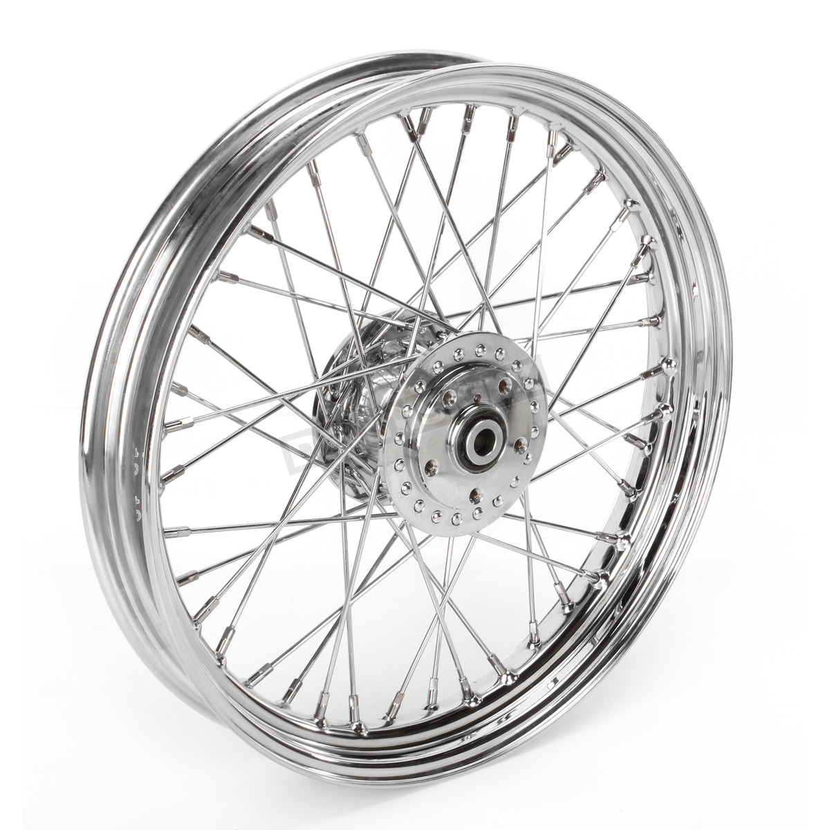 Chrome Front 19 x 2 5 40-Spoke Laced Wheel Assembly - 0203-0413