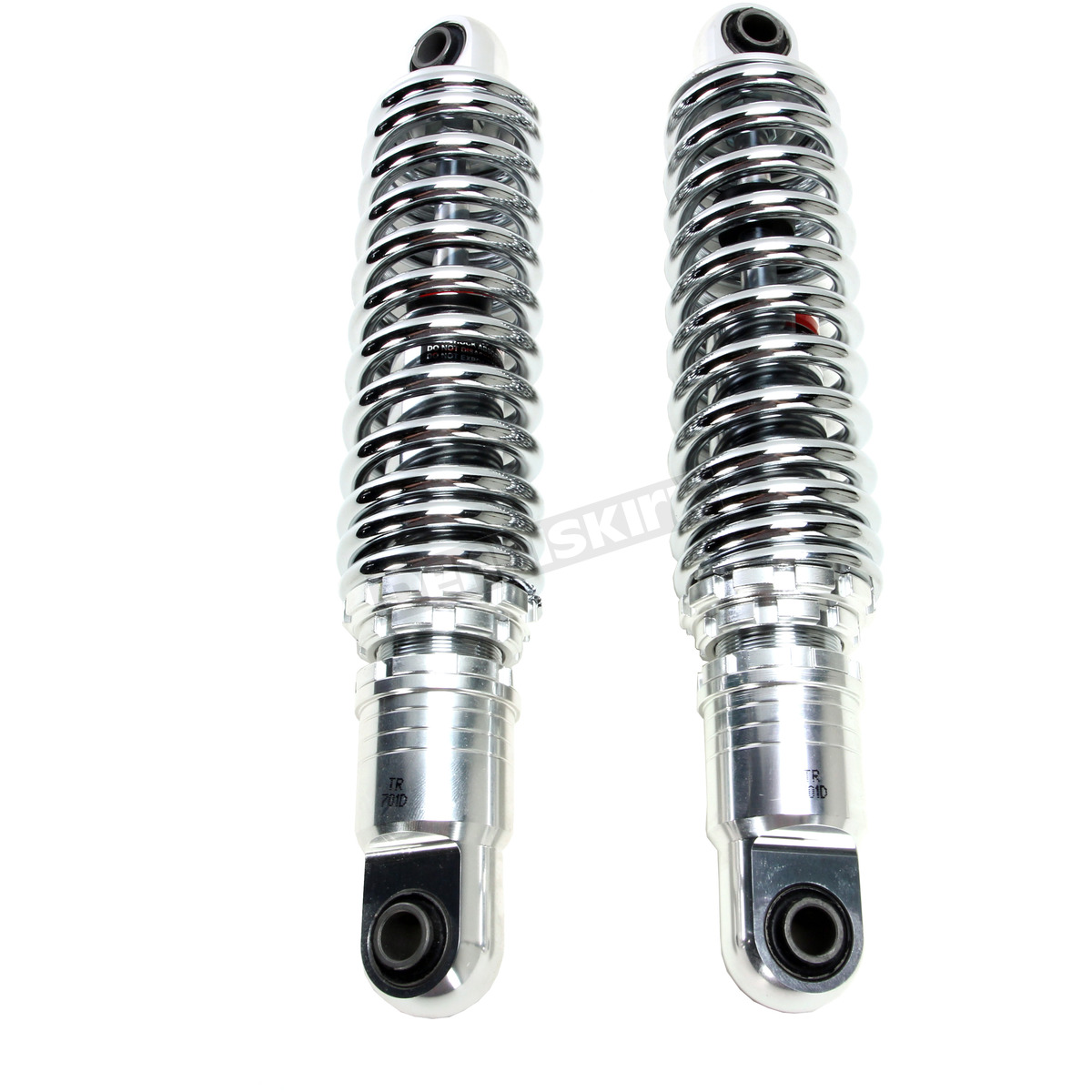 13 in  Chrome Ride-Height Adjustable Shocks - 1310-1201