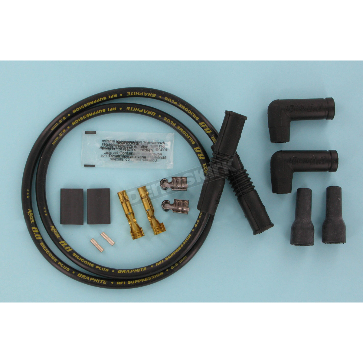 Accel Single Plug Wire Set with Straight Ends - 173085K Harley ...